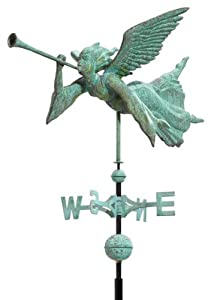 Copper Angel Weathervane Finish: Verdigris