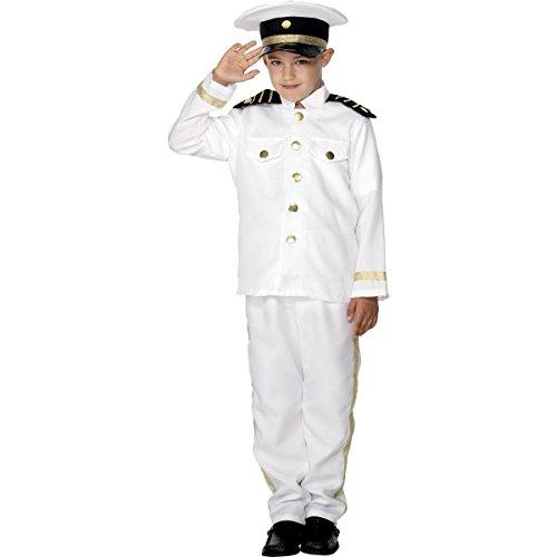 Smiffys New Child Captain Sailor Navy Boy Fancy Dress Costume L