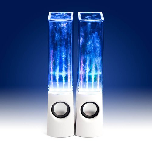 Enceinte PC / Stations MP3 Jet d'eau et LED RMS (Blanc)