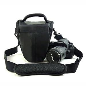 Etui imperméable noir & Housse anti pluie pour appareils photo Canon EOS 100D 550D 600D 6500D 700D 1100D 1200D,50D 60D 70D,7D,6D SX50,Nikon D7100 D7000 D5300 D5100 D5200,D3100,D3200 D3300,D800,L830 P520 FUJI FinePix HS30 HS50 X-S1 S4500 S8600,Panasonic FZ72 FZ200,G6 GH6,OLYMPUS E30 E3 E1,Sony HX400 HX300 A58,A65,A99,A77,Pentax DSLR Reflex Numériques