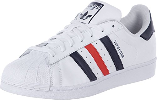 Adidas Superstar Foundation Scarpa 7,5 white/navy/red