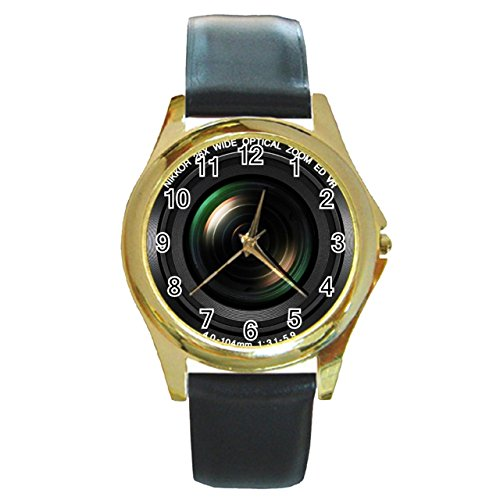 nikon-coolpix-digital-camera-with-synthetic-leather-band-gold-metal-watch