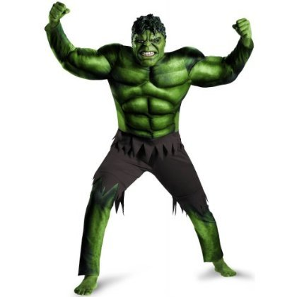 Plus Size Classic Muscle Avengers Hulk Men's Costume For Adults
