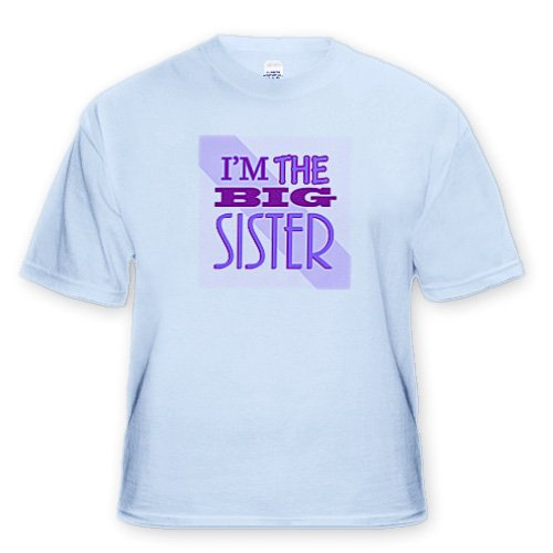 Im the Big Sister Purple - Adult Light-Blue-T-Shirt Medium
