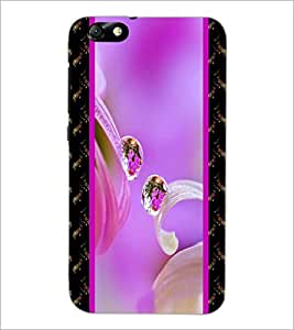 PrintDhaba Droplets D-4255 Back Case Cover for HUAWEI HONOR 4X (Multi-Coloured)