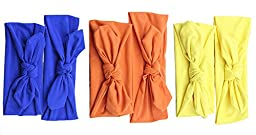 Mookiraer® Baby and Mother Newest Hair Bows Turban Headband Head Wrap Knotted Hair Band 3set (BY26)
