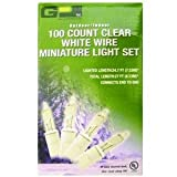 GP 100-Count Clear White Wire Miniature Light Set