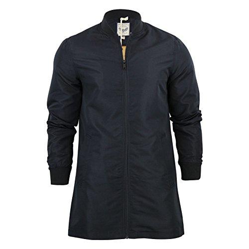 Longline da uomo Brave Soul flyermac Bomber giacca Harrington A Cerniera MA1Cappotto Black Medium