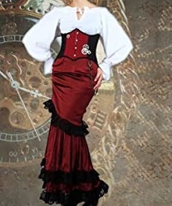 "Steampunk Midshipman's Underbust Corset (Size 24"") by Patterns of Time"