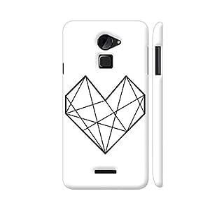 Colorpur Diamond Heart Stroke Designer Mobile Phone Case Back Cover For Coolpad Note 3 Lite | Artist: Adeela Abdul Razak