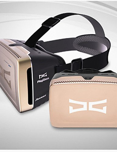 The Fourth Generation Playglass 3d Virtual Reality Glass Used For Mobile 3d Games and Videos , gold