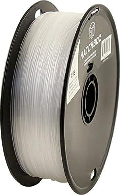 HATCHBOX 3D ABS-1KG1.75-TWHT ABS 3D Printer Filament, Dimensional Accuracy +/- 0.05 mm, 1 kg Spool, 1.75 mm, Transparent White