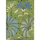ZnZ Rugs Gallery 26012-8x10 Handmade New Zealand Blend Wool Rug, 8 by 10-Feet, Light Green