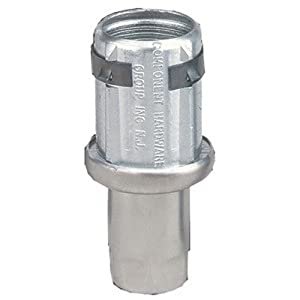 """Stainless Steel Adjustable Hex Foot Insert - Adjustable Height from 1-1/2"""" (32mm) to 2-3/4"""". For 1-5/8"""" (41mm) O.D. Tubing 16 Gauge (1.5mm)"""