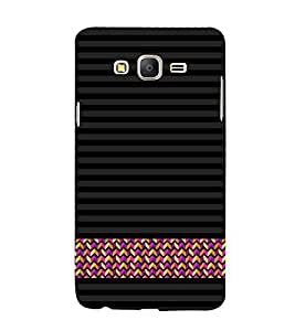 Line Pattern Wallpaper Cute Fashion 3D Hard Polycarbonate Designer Back Case Cover for Samsung Galaxy On7 G600FY :: Samsung Galaxy On 7 (2015)