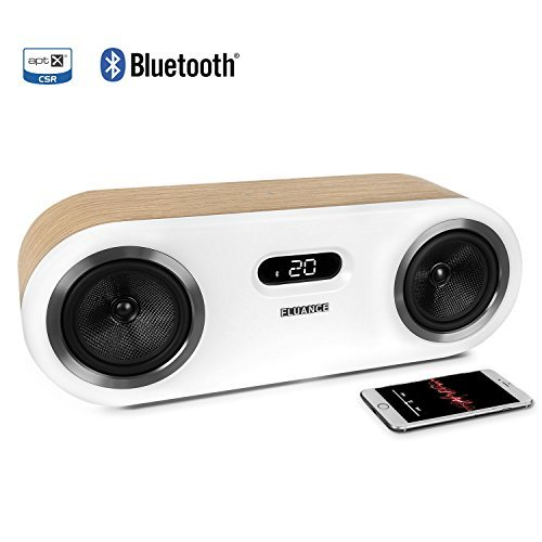 Fluance Fi50 Two-Way High Performance Wireless Bluetooth Premium Wood Speaker System with aptX Enhanced Audio (Lucky Bamboo)