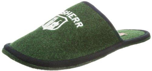 Adelheid Mens Hausherr Filzpantoffel Slippers Green Grün (tannengrün 458) Size: 7.5 (40/41 EU)