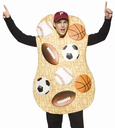 Funny Mens Sports Fan Nut Fiesta Halloween Costume Adult Talla