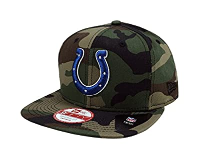 New Era 9Fifty NFL Indianapolis Colts Hat State Clip Snapback Woodcamo One Size Cap
