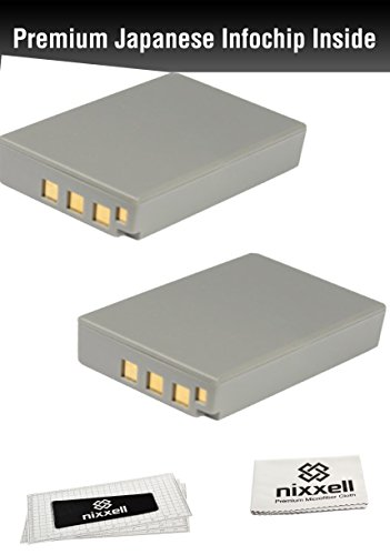 ( 2Pack ) WT Nixxell Battery for Olympus BLS-5, BCS-5, PS-BLS5, PS-BCS5, OM-D E-M10, PEN E-PL2, E-PL5, E-PL6, E-PM2, Stylus 1 (Fully Decoded)