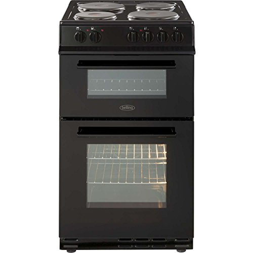 Belling FS50EFDO 50cm A Rated Double Oven Electric Cooker with 4 Burners in Black