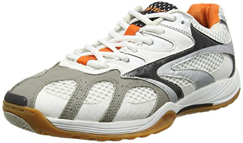 Hi-Tec Ad Pro Elite - Scarpe Sportive Indoor Uomo, Bianco (White/Black/Orange 011), 41 EU