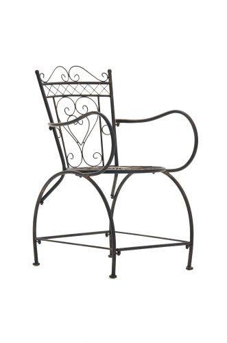 CLP nostalgischer Stuhl SHEELA aus Eisen (aus bis zu 6 Farben wählen) bronze