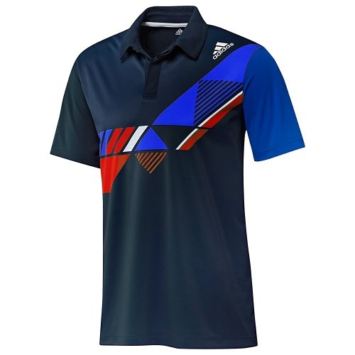 Adidas ClimaCool Mens Blue Short Sleeve Tennis Polo Shirt