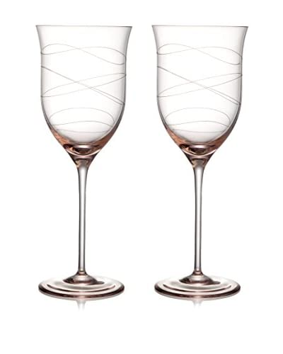 Nambe Set of 2 Motus 16-Oz. Goblets, Pink