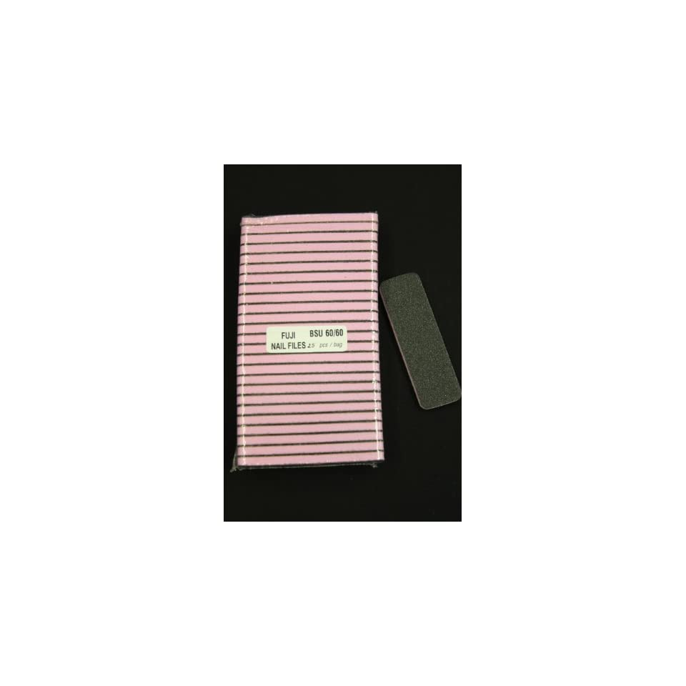Professional Nail/pedicure Foot Files (Pink Center) Grit 60/60 (25pcs/pack)