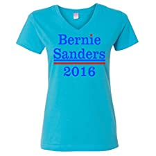 Ladies V-Neck: Bernie Sanders 2016 T-Shirt