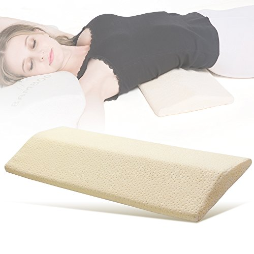 long sleeping pillow for back memory foam lumbar support cushion for hipsciatic nerve pain relief u2013 seniors emporium