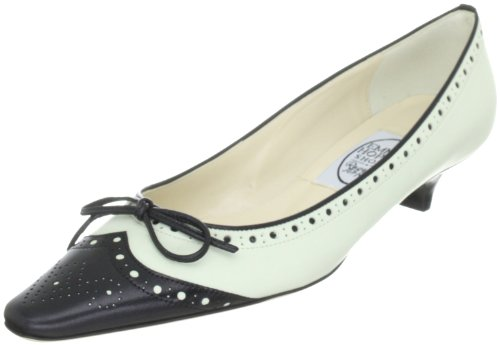 Emma Hope pretty brogue chisel court 7102-11630, Scarpe col tacco donna, Beige (Elfenbein (bone/black)), 36