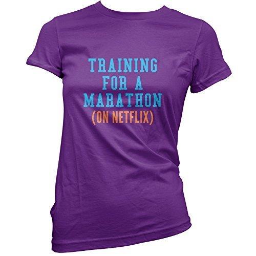 allenamento-per-una-maratona-on-netflix-t-shirt-da-donna-11-colori-cotone-viola-100-cotone-100-coton
