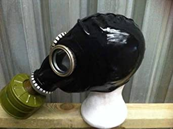 Gp5 Gas Mask Ussr Civilian Black Rubber Latex Amazon Co