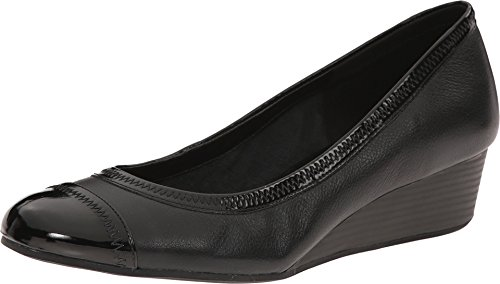 Cole Haan Women's Elsie Cap Toe Wedge II Black Wedge 8.5 B (M) (Cole Haan Shoes Women Wedge compare prices)