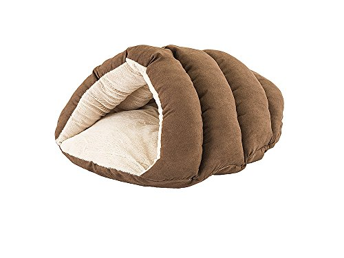 """Cuddle Cave For Cats, 22"""" x 17"""" x 10"""", Chocolate"""