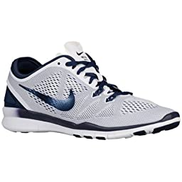 Nike 704674 Free 5.0 TR Fit 5 Women\'s Training Shoes - White/Midnight Navy - 11