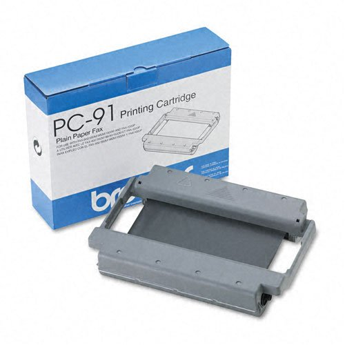 Brother Products - Brother - PC91 Ribbon Cartridge, Black - Sold As 1 Each - Thermal print cartridge ribbon for brother plain paper ppf-900/950m/980m/1500m.