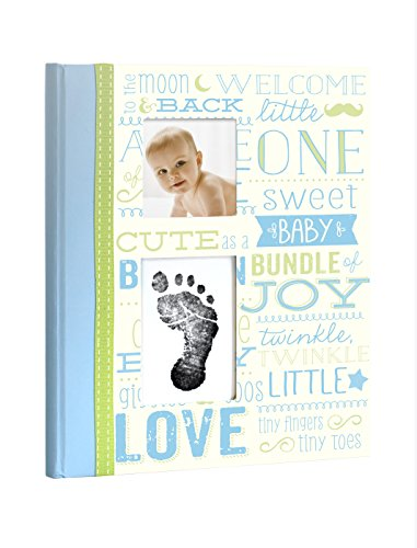 Little Blossoms Vintage Memory Book with Clean-Touch Ink Pad, Blue