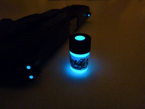 GLOW-ON BLUE COLOR, Super Phosphorescent Gun