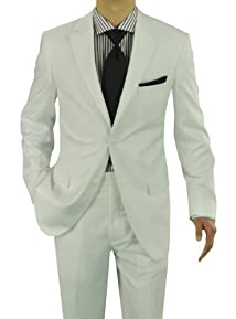 Presidential Giorgio Napoli Men's Two Button Suit White
