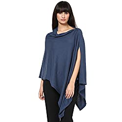 Pluchi Nursing Knitted Cotton Poncho Rosette -TEA GREY