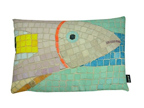 Lava Home Indoor Outdoor Living Room Decorative Fish Mosaic 15x23 Pillow (Indoor/Outdoor) (Mosaic Fish compare prices)
