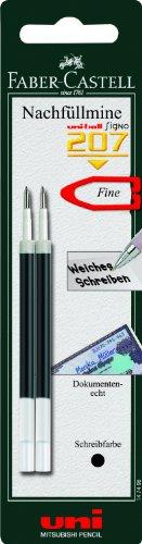 Faber-Castell 147498 Recharge pour stylo Signo 207 Noir Lot de 2