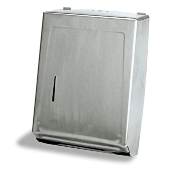 "Continental 989SS, Heavy Gauge Steel Combo Towel Cabinet, 11-1/4"" Width x 15-3/8"" Height x 4-1/16"" Depth  (Case of 6)"
