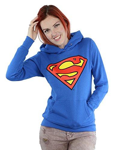 Donne - Official - Superman - Felpa Con Cappuccio (XS)