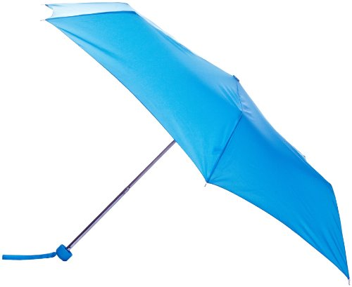 Totes Steel 6 Rib Mini 3 Plain Blue Umbrella