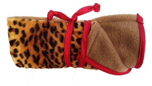 Patricia Ann Designs Satin Trim Cheetah Changing Mat, Tan, Brown, Red