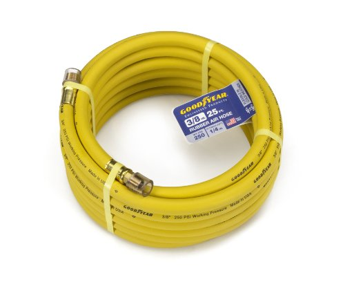 Goodyear EP 46501 3/8-Inch by 25-Feet 250 PSI Rubber Air Hose with 1/4-Inch MNPT Ends images